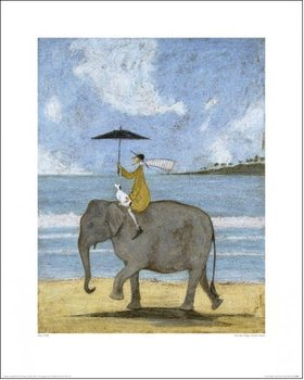 Sam Toft - On The Edge Of The Sand Festmény reprodukció