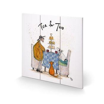 Poster su legno Sam Toft - Tea for Two - Colour