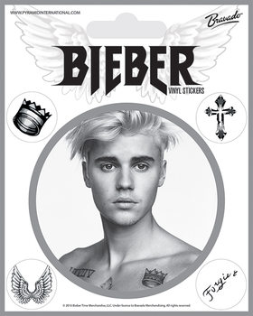Samolepka Justin Bieber - Bieber Black and White