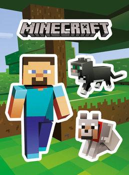 Samolepka Minecraft - Steve and Pets