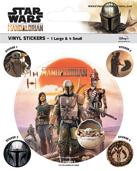 Samolepka Star Wars: The Mandalorian - Legacy