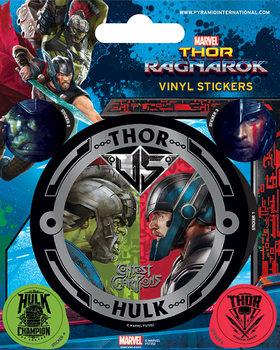 Samolepka  Thor Ragnarok - Thor vs Hulk