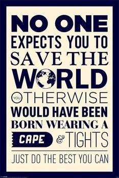 Save the world - плакат (poster)