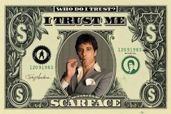 SCARFACE - dollar - плакат (poster)