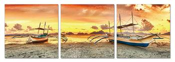 Abandoned boats Schilderij