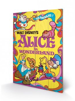 Alice In Wonderland - 1974 Schilderij op hout