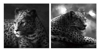 Beast hidden in gray Schilderij