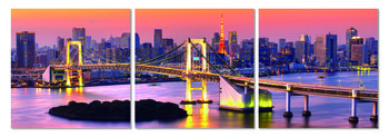 Bridge near metropolis Schilderij