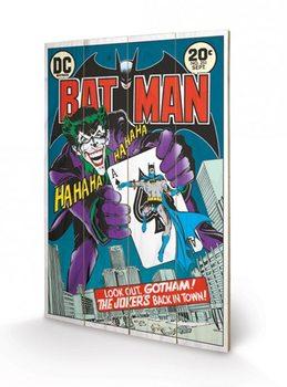DC COMICS - joker  back in town Schilderij op hout
