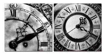 Designer clocks (Zwart Wit) Schilderij
