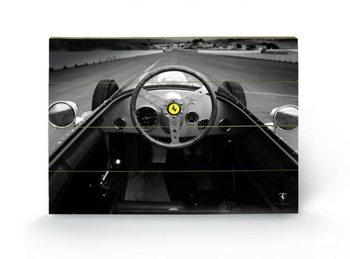 Ferrari F1 - Vinatge Quart Schilderij op hout