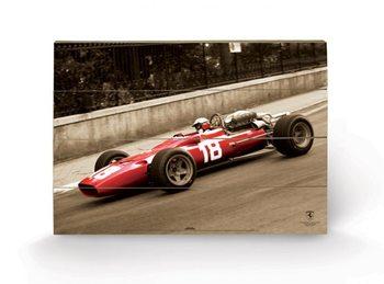 FERRARI F1 - vintage bandini Schilderij op hout