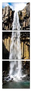 Fresh waterfall Schilderij