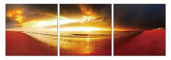 Golden sunset Schilderij
