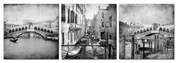 Gray city street Schilderij