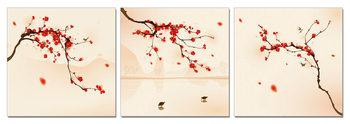 Modern Design - Branches with Blossoms Schilderij
