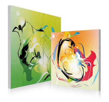 Modern design - colored abstraction Schilderij