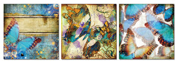 Modern Design - Colorful Butterflies Schilderij