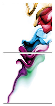 Modern Design - Colorful Smoke Schilderij