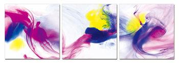 Modern Design - Colorful Smoke Schilderij