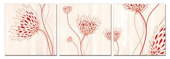 Modern design - flowers Schilderij