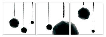 Modern Design - Hanging Balls (Zwart Wit) Schilderij