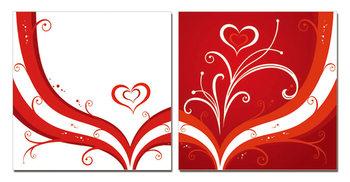 Modern design - the heart Schilderij