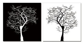 Modern Design - Tree Silhouettes Schilderij