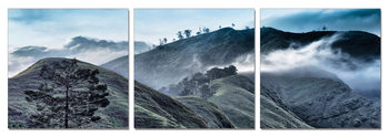 Morning misty mountains Schilderij