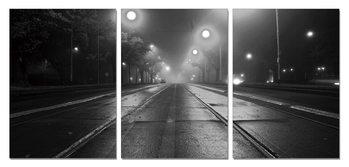 Night street Schilderij