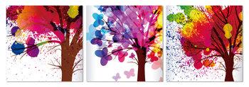 Painted trees Schilderij