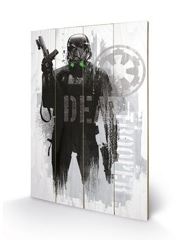 Rogue One: Star Wars Story - Death Trooper Grunge Schilderij op hout