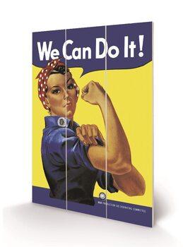 Rosie the Riveter Schilderij op hout