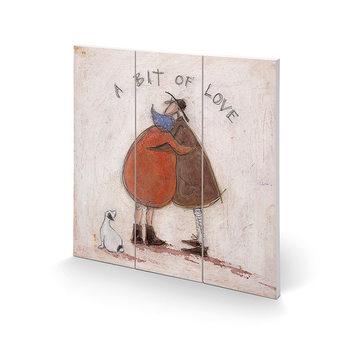 Sam Toft - A Bit of Love Schilderij op hout