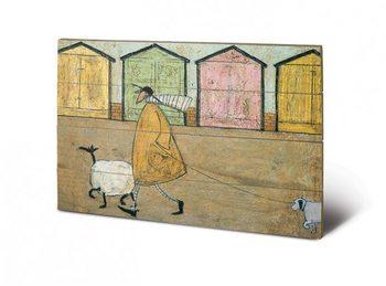 Sam Toft - Along The Prom Schilderij op hout