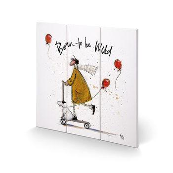 Sam Toft - Born to be Wild Schilderij op hout