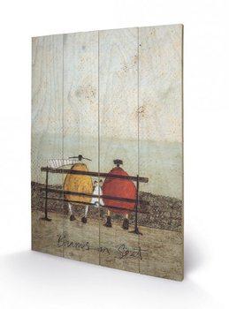 Sam Toft - Bums on Seat Schilderij op hout