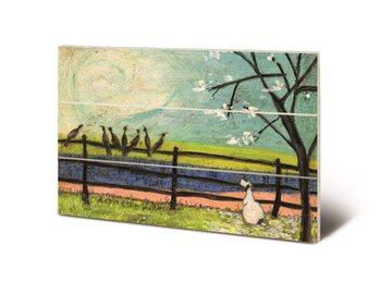 Sam Toft - Doris and the Birdies Schilderij op hout