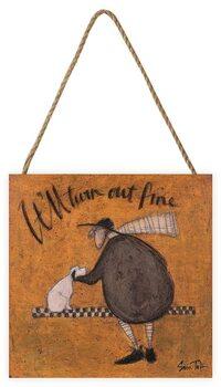 Sam Toft - It'll Turn Out Fine Schilderij op hout