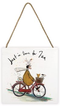 Sam Toft - Just in Time for Tea Schilderij op hout