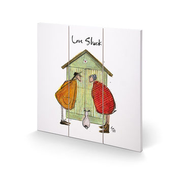 Sam Toft - Love Shack Schilderij op hout