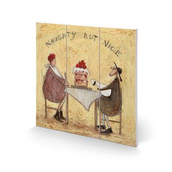Sam Toft - Naughty But Nice Schilderij op hout