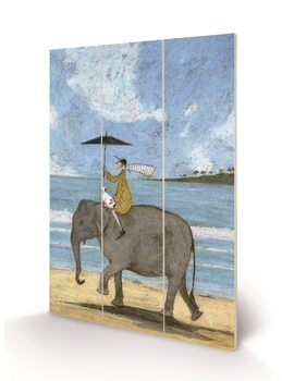 Sam Toft - On the Edge of the Sand Schilderij op hout