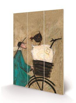 Sam Toft - Taking the Girls Home Schilderij op hout