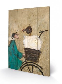 SAM TOFT - taking the girls home Schilderij op hout