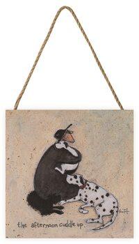 Sam Toft - The Afternoon Cuddle Up Schilderij op hout