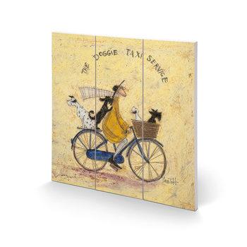 Sam Toft - The Doggie Taxi Service Schilderij op hout