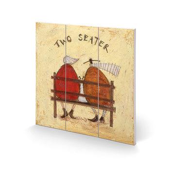 Sam Toft - Two Seater Schilderij op hout