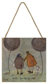 Sam Toft - With You By My Side Schilderij op hout