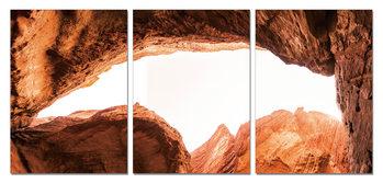 Sandstone cliffs Schilderij